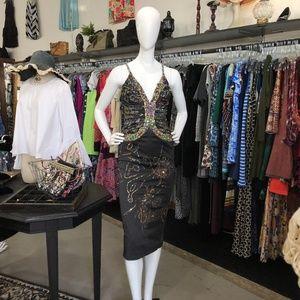 NWT Mandalay Beaded Embellished Silk Formal Dress